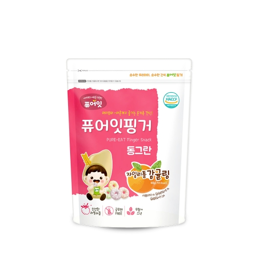 (30P) [NAEBRO] PURE-EAT Finger Brown Rice Xylitol Tangerine Ring (40g*30)