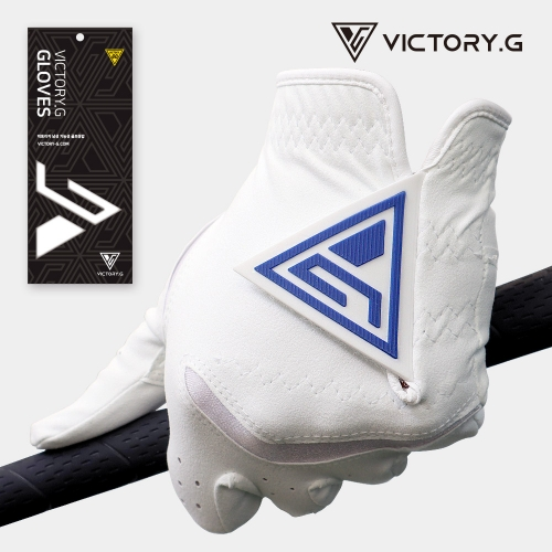 [Victory.G] Men's Functional White(Blue) Golf Gloves/Left/Right Hand (SIZE 22~26)