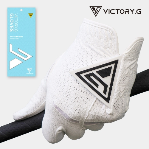 [Victory.G] Men's Cool-Air White(Black) Golf Gloves/Left/Right Hand (SIZE 22~26)