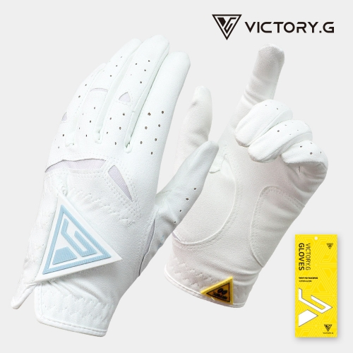 [Victory.G] Women's Functional White(Sky) Golf Gloves/Pair Both Hand (SIZE 18~21)