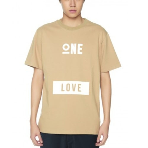 [JUSTO] ONE LOVE T-SHIRTS [BEIGE]
