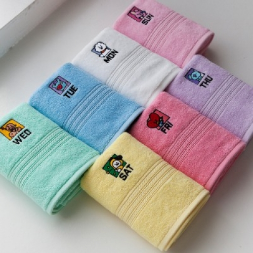 [BT21] daily face towel (140g / 7ea)