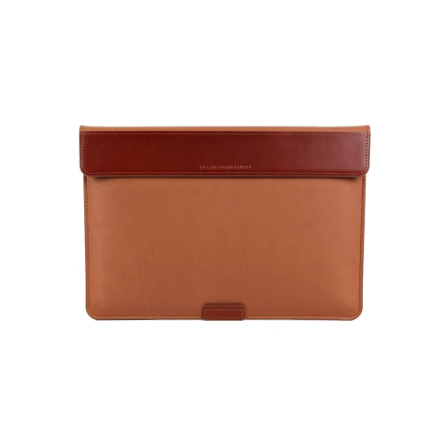 """[BEFINE] Stand Pouch 2 for MacBook Air 13"""" & Pro Retina Display 13"""" & Surface Laptop (Dark Tan)"""