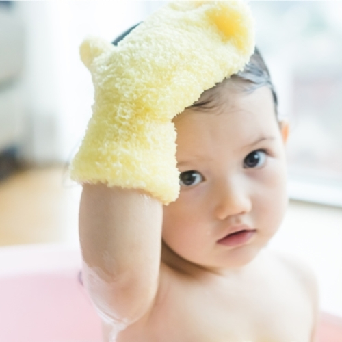 [Vegetable baby] Vegetable-based baby bath glove (finger type,mitten type)