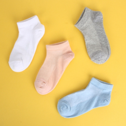 [Cotton100 market] 100% Cotton Contact Kids Socks (4 pairs)