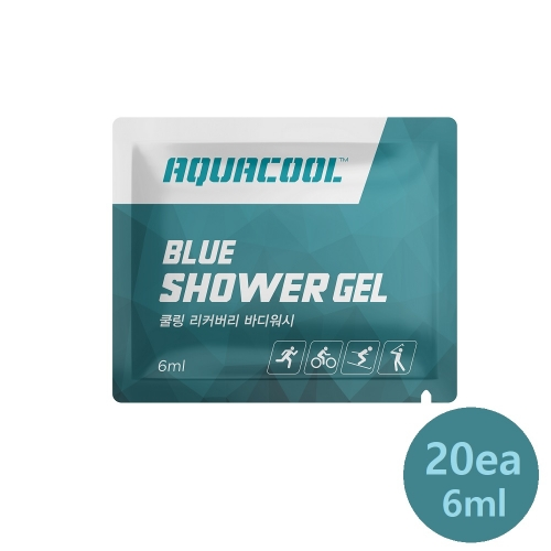 [AQUACOOL] Shower Gel Pouch Cooling & Refreshing Body Clean (6ml x 20 ea)