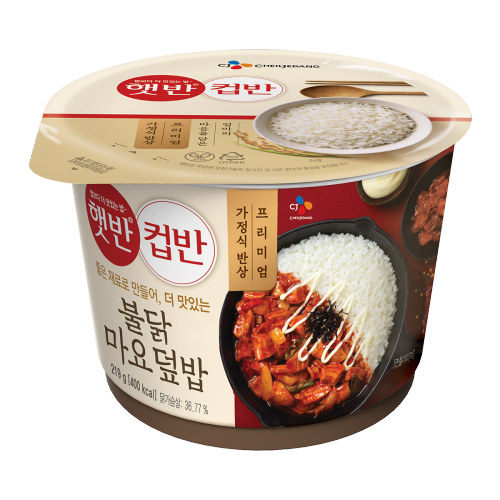 [CJ Cheiljedang] Hetbahn Cupbahn Hot and Spicy Chicken Mayo with Rice (219g)