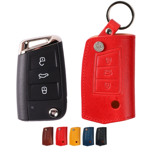 [URBANWEST] Italy BUTTERO 100% Cow Leather Handmade Car Key Case for VOLKSWAGEN