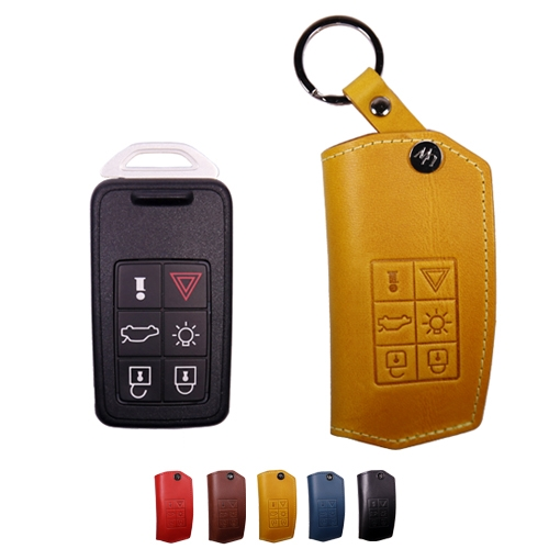[URBANWEST] Italy BUTTERO 100% Leather Handmade Car Key Case for VOLVO