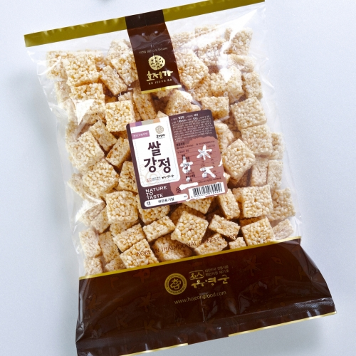 [Hojeongga] Hojeongga Rice Gangjeong (Sweet Crackers with Rice Puffs) (500g)
