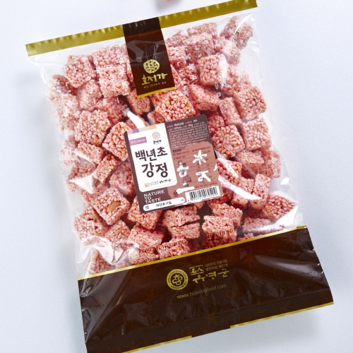 [Hojeongga] Hojeongga Cactusfruit Gangjeong (Sweet Crackers with Rice Puffs) (500g)