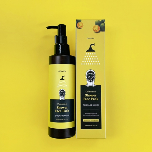 [GOWITH] Calamansi Shower Face Pack (200ml)