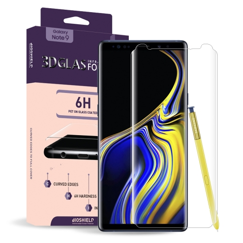 [BIOSHIELD] Full coverage 6H 3D glass screen protector for Galaxy Note 9