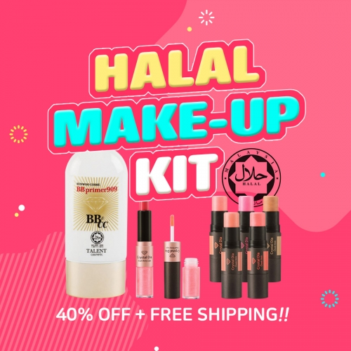 [SUNWOO COSME] HALAL MAKE-UP KIT (3 ITEMS)