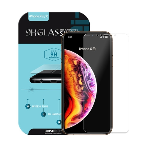 [BIOSHIELD] 9H Infrangible flex glass screen protector for iPhone X/XS