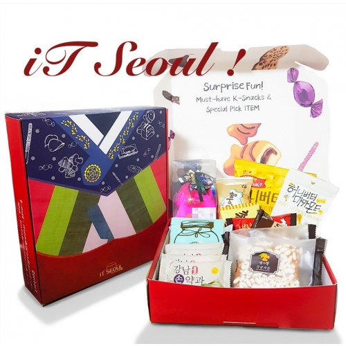 [iTSEOUL] iTBOX Hanbok Keyring & Snacks - GIFT PACKAGE