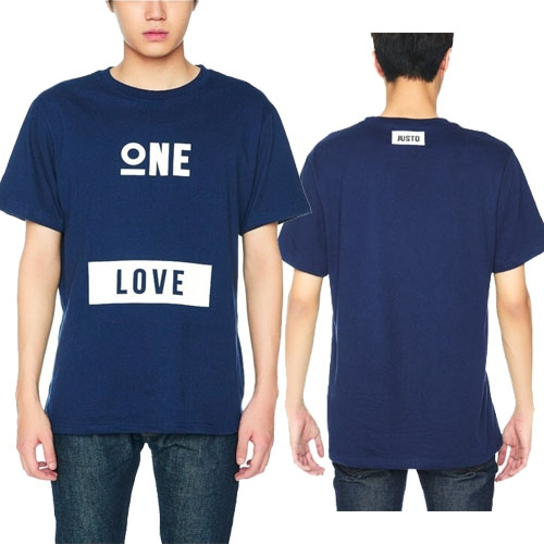 [JUSTO] ONE LOVE T-SHIRTS  NAVY