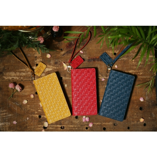 [URBANWEST] Mesh Pattern Leather Handmade Cell Phone Case for Samsung Galaxy, Apple iPhone, LG