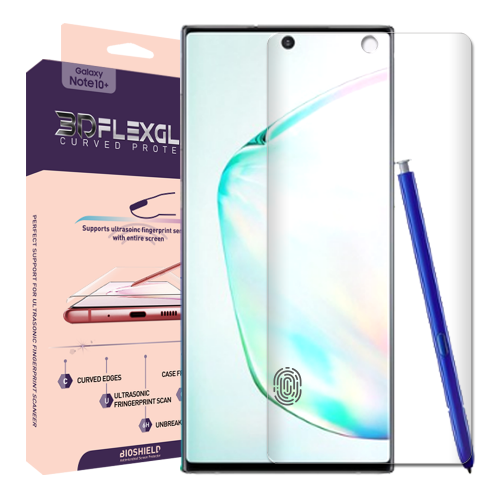 [BIOSHIELD] Full coverage 6H 3D flexglass screen protector for Galaxy Note10/Noe10+(1 sheet)