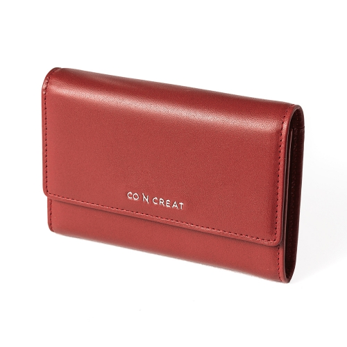 [CO_N_CREAT] Signature Small Womens Wallet Brick Red