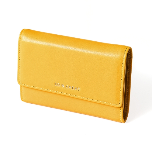 [CO_N_CREAT] Signature Small Womens Wallet Yellow