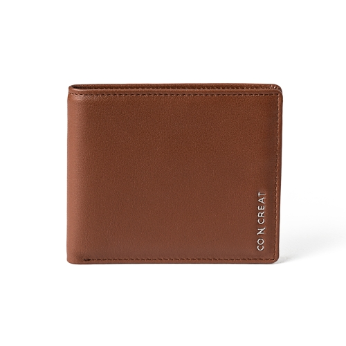 [CO_N_CREAT] Signature Storage Mens Wallet Brown