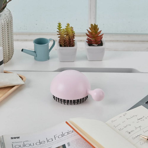 [Forbeaut] Pure Me Detangling & Oil Removal Hair Brush - Cherry Blossom Pink