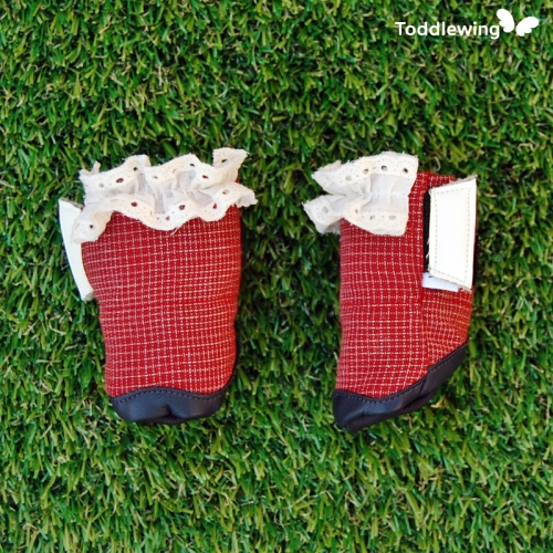 [Toddlewing] Dog shoes Red Cracker (Light and soft doggy shoes)