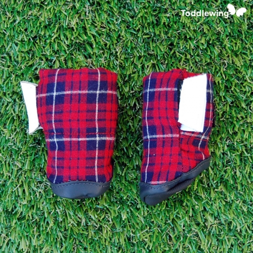 [Toddlewing] Dog shoes Royal Check (Light and soft doggy shoes)