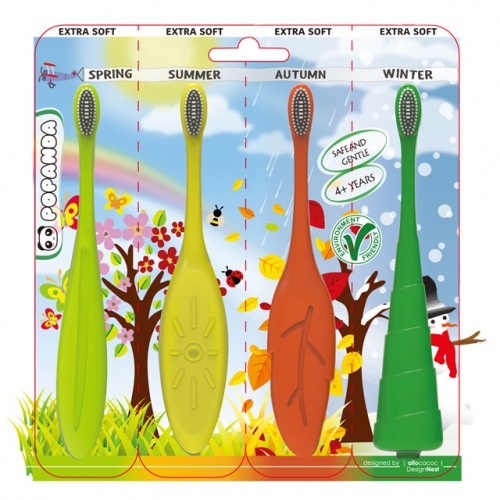 [POPANDA] Kid's seasonal silicone toothbrush