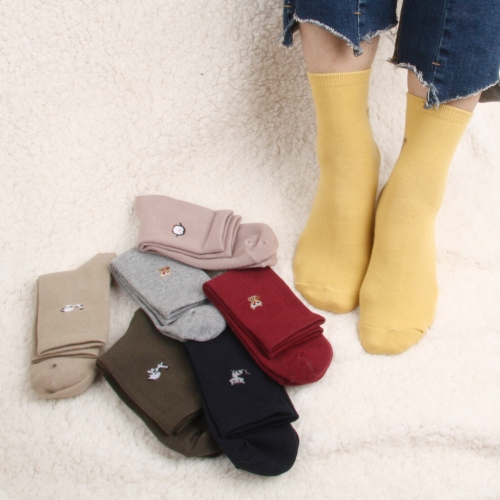 [Cotton100 market] 100% Cotton Contact Women's Socks (4 pairs)