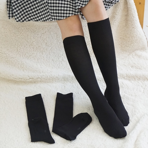 [Cotton100 market] 100% Cotton Contact Women's Knee Socks (3 pairs)
