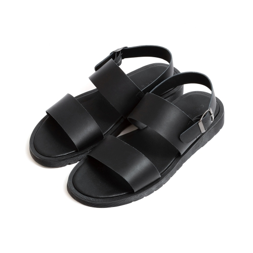 [CO_N_CREAT] Double Strap Leather Sandals