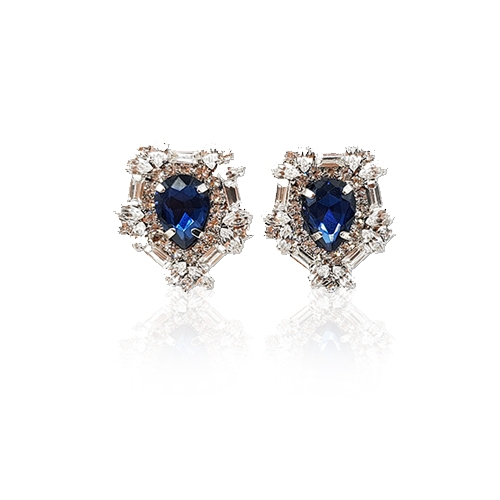 [MINWHEE ART JEWELRY] The Dignity of The Queen, Sapphire earrings
