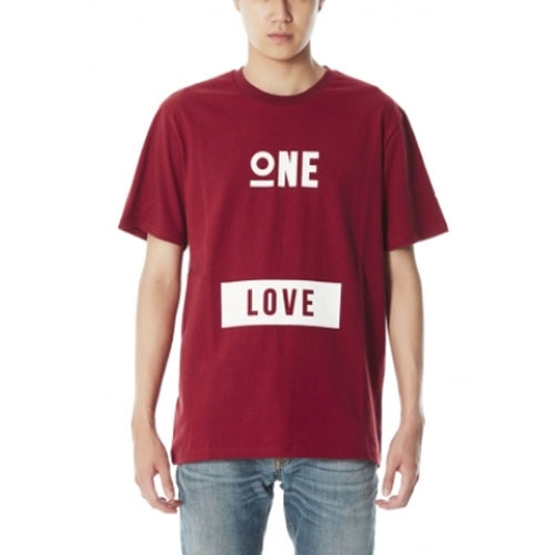 [JUSTO]  ONE LOVE T-SHIRTS WINE