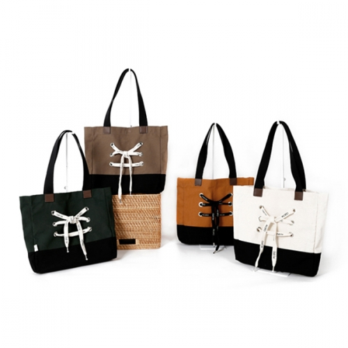 [YDDY] Canvas bag Series 'Canvashoes - Width Bag (4 colors)'