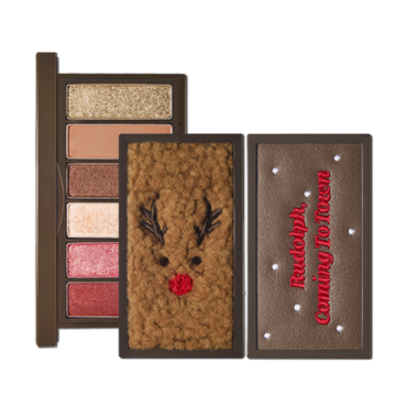 (Limited quantity)[ETUDE HOUSE] Rudolph Coming To Town Play Color Eyes Mini (1gx6color) - Rudolph, Pulling The Sleigh