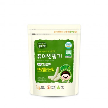 (6P) [NAEBRO] PURE-EAT Finger Organic Broccoli Stick (30g*6)